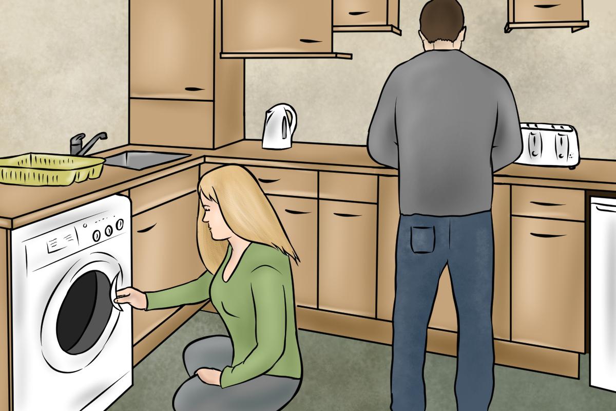 Kaufberatung Waschmaschine - Für den Einbau in einen Badezimmer- oder Küchenschrank eignet sich nur eine Frontlader-Waschmaschine.