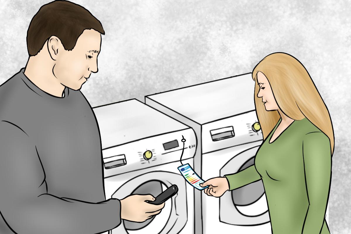 Kaufberatung Waschmaschine - Ein genauer Vergleich der Energieeffizienz und Stromverbrauchswerte lohnt sich.