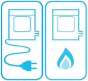Gerätetyp des Wäschetrockners (Ausschnitt aus dem EU-Label)