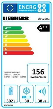 EU-Energielabel für Kühlschränke am Beispiel des Liebherr KBPes 3864