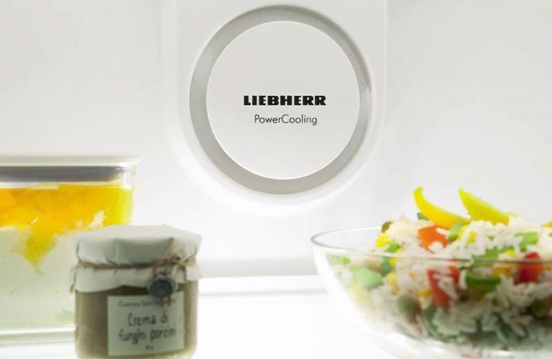 Dynamische Umluftkühlung mit Ventilator im Kühlschrank