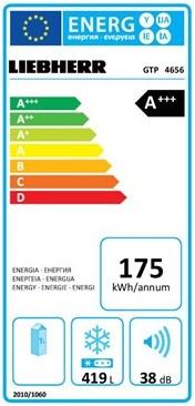 EU-Energielabel für Gefriertruhen am Beispiel der Liebherr GTP 4656
