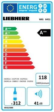 EU-Energielabel für Weinkühlschränke am Beispiel des Liebherr WKt 6451