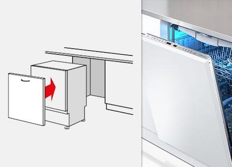 Geschirrspüler-Bauformen - Einbaugeschirrspüler vollintegrierbar