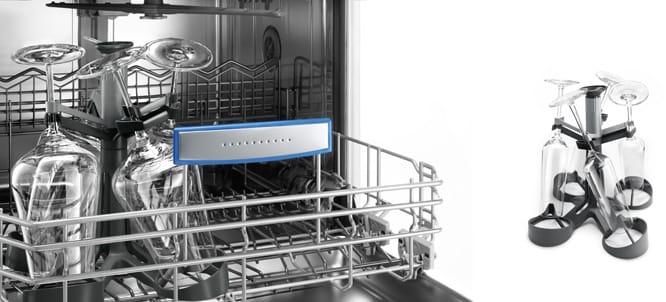 Glaskorrosion im Geschirrspüler - Stielglas-Korb gibt Halt