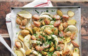 Kartoffel-Wurst-Blech - Rezept von Betty Bossi & Miele