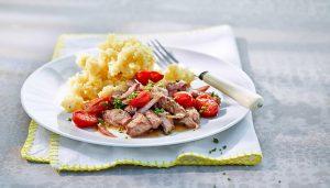 Kartoffelschnee mit Geschnetzeltem - Rezept von Betty Bossi & Miele