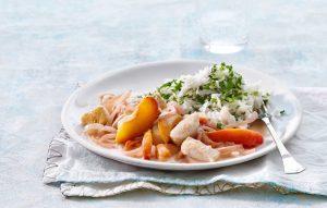 Pouletragout mit Pfirsich - Rezept von Betty Bossi & Miele