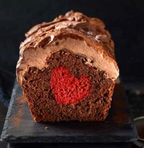 Schokoladecake mit Herz