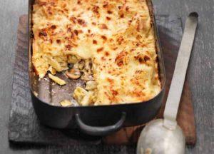 Schwarzwurzel-Pilz-Lasagne