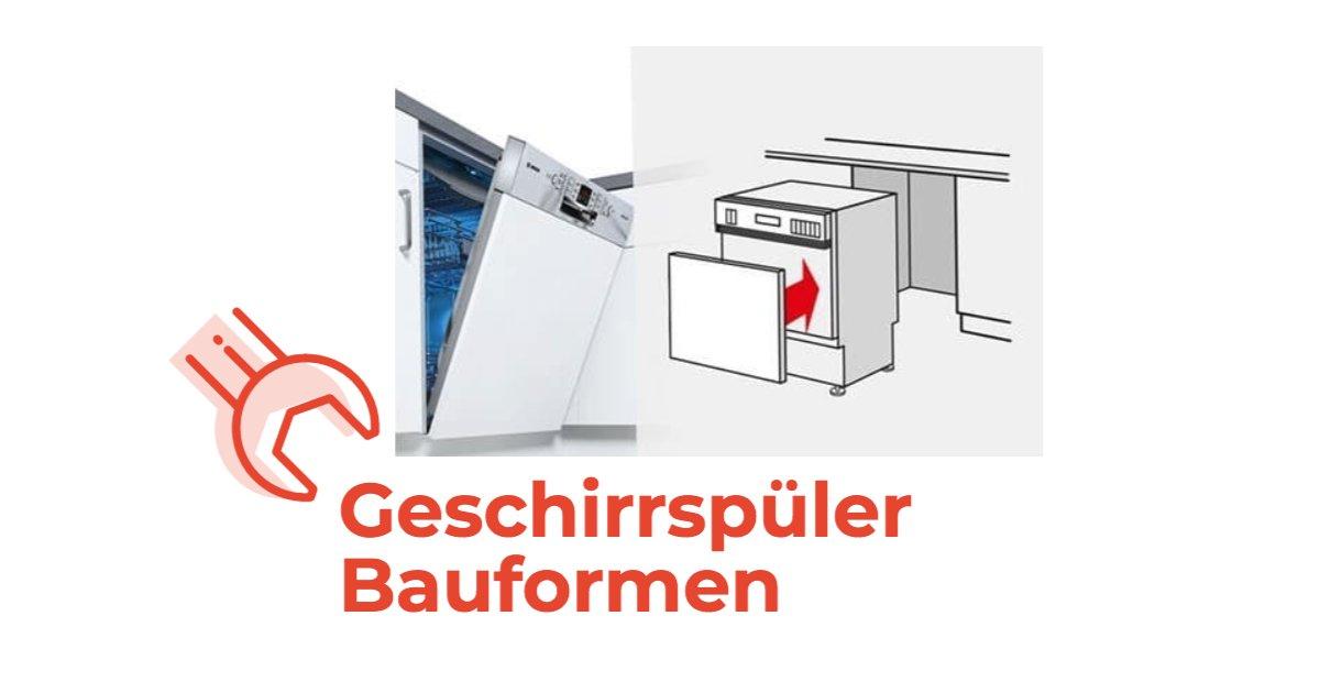 Beliebt Die verschiedenen Bauformen bei Spülmaschinen UB54